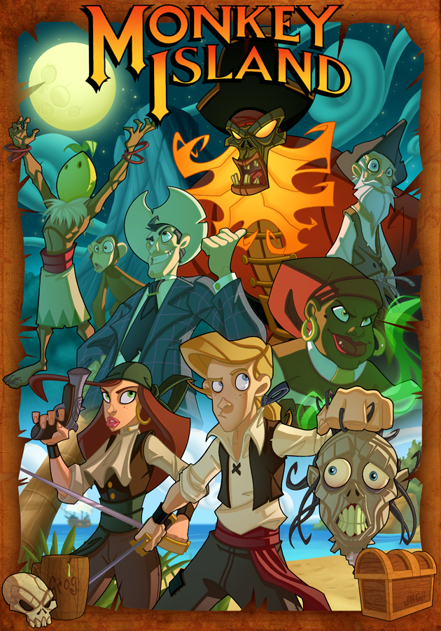 The Secret of Monkey Island poster by Javas  %tag