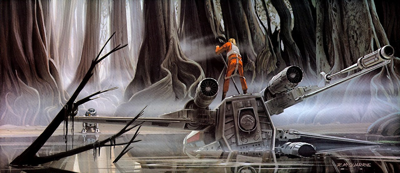 Ralph McQuarrie's Concept Art for Dagobah %tag