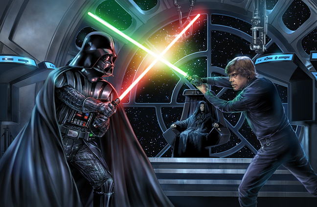 Some iconic moments seen and not seen from the Original Trilogy by Crhis Trevas %tag