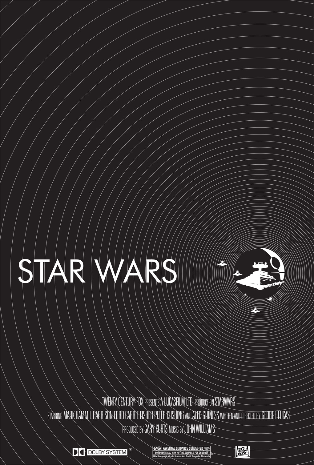 Star Wars   A New Hope poster by Diego López %tag